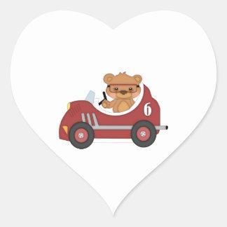 Teddy Bear Racer (red) Sticker