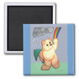 Teddy Bear Rainy Day Fridge Magnets