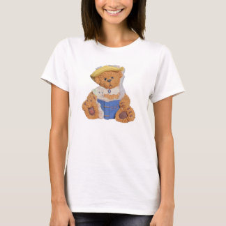 Teddy bear Reading Bible to Baby T-Shirt