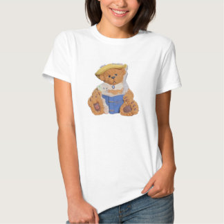 Teddy bear Reading Bible to Baby Tee Shirt