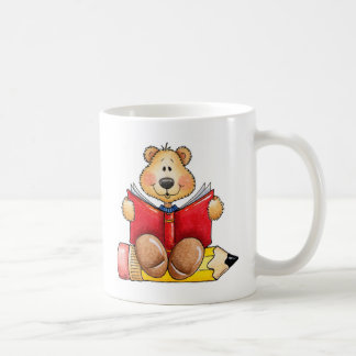 Teddy Bear Reading Coffee Mug
