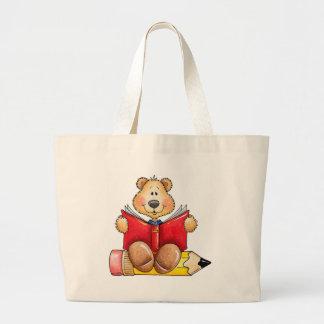 Teddy Bear Reading Jumbo Tote Bag