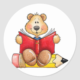 Teddy Bear Reading Stickers