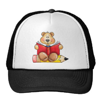 Teddy Bear Reading Trucker Hat