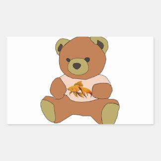 Teddy Bear Rectangular Sticker