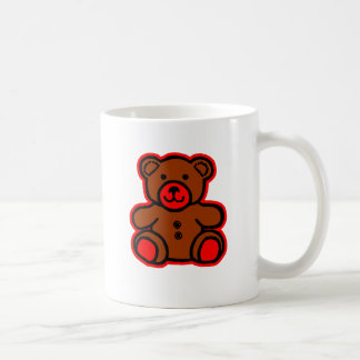 Teddy Bear Red Brown The MUSEUM Zazzle Gifts Mugs