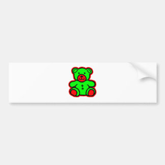 Teddy Bear Red Green The MUSEUM Zazzle Gifts Car Bumper Sticker