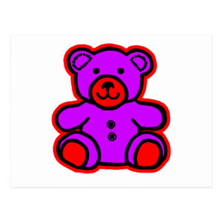 Teddy Bear Red Purple The MUSEUM Zazzle Gifts Postcard