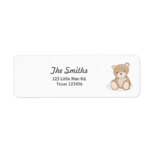 teddy bear return address labels zazzle