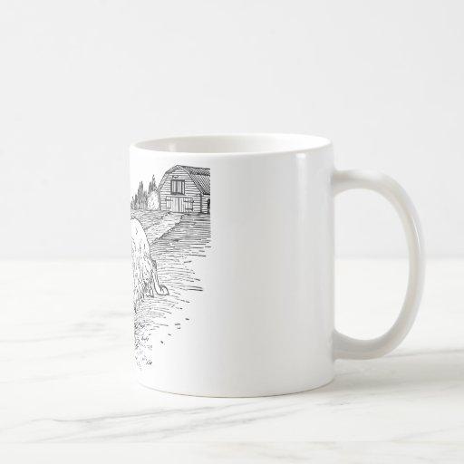 Teddy Bear Riding a Goat Coffee Mug