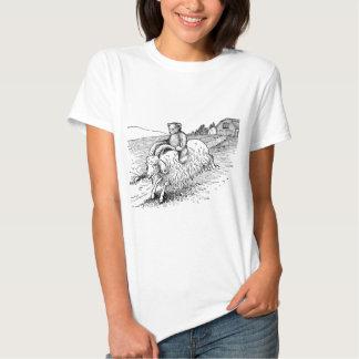 Teddy Bear Riding a Goat T Shirt