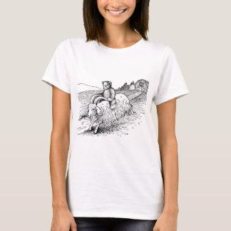Teddy Bear Riding a Goat T-Shirt