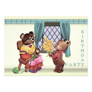 Teddy Bear s Birthday Party Invitation
