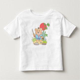 Teddy bear samurai toddler t-shirt