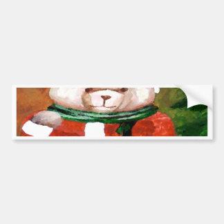 Teddy Bear Santa Christmas Fun Holiday Bear Bumper Sticker