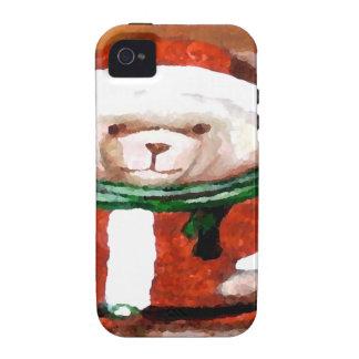 Teddy Bear Santa Christmas Fun Holiday Bear Vibe iPhone 4 Cover