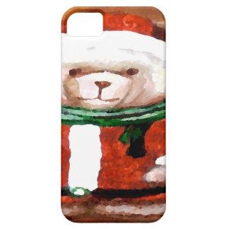 Teddy Bear Santa Christmas Fun Holiday Bear iPhone 5 Cases