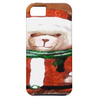 Teddy Bear Santa Christmas Fun Holiday Bear iPhone 5 Case