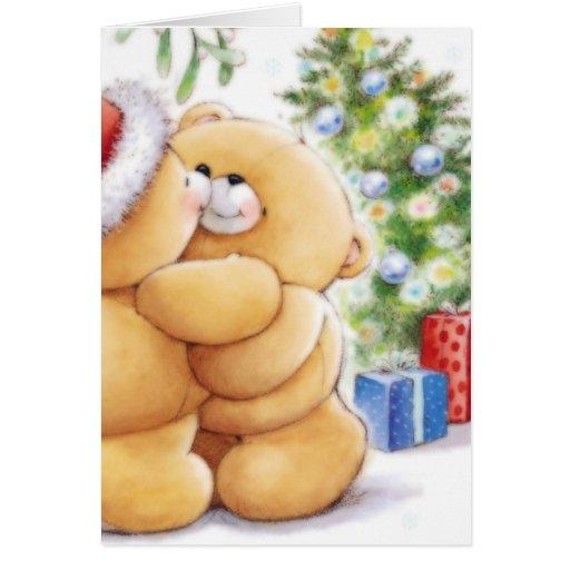 Teddy Bear Santa Greeting Cards