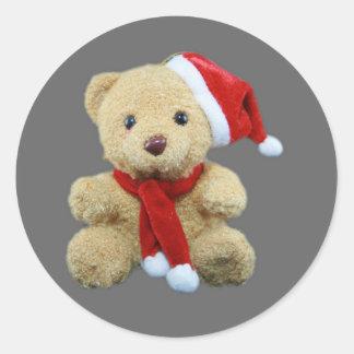 Teddy Bear Santa Stickers