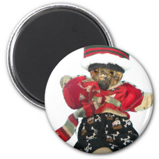Teddy Bear - Scrappy 2 Inch Round Magnet