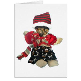 Teddy Bear - Scrappy Card