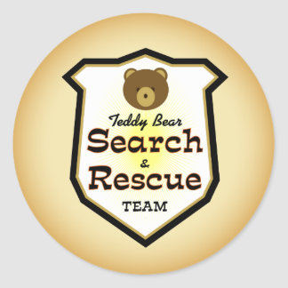 Teddy Bear Search and Rescue Team Classic Round Sticker