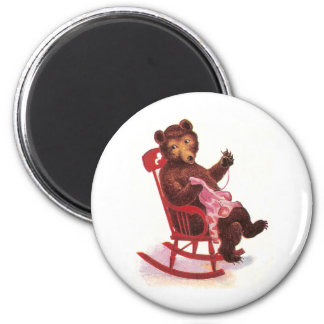 Teddy Bear Sewing Clothes 2 Inch Round Magnet