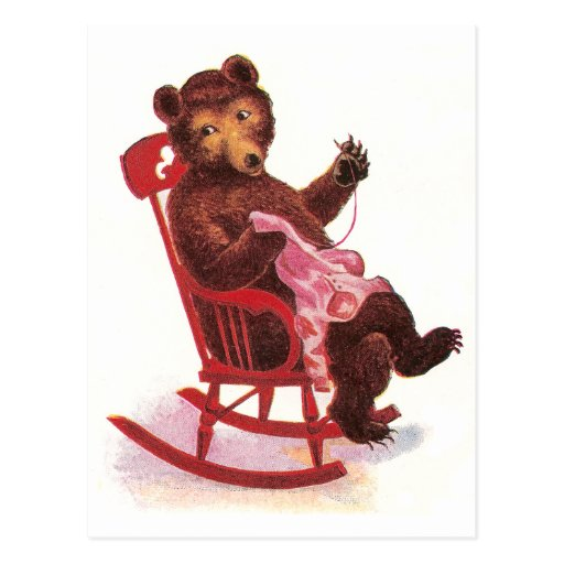 Teddy Bear Sewing Clothes Postcards