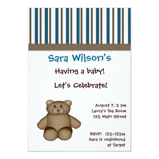 Teddy Bear Shower Invitation