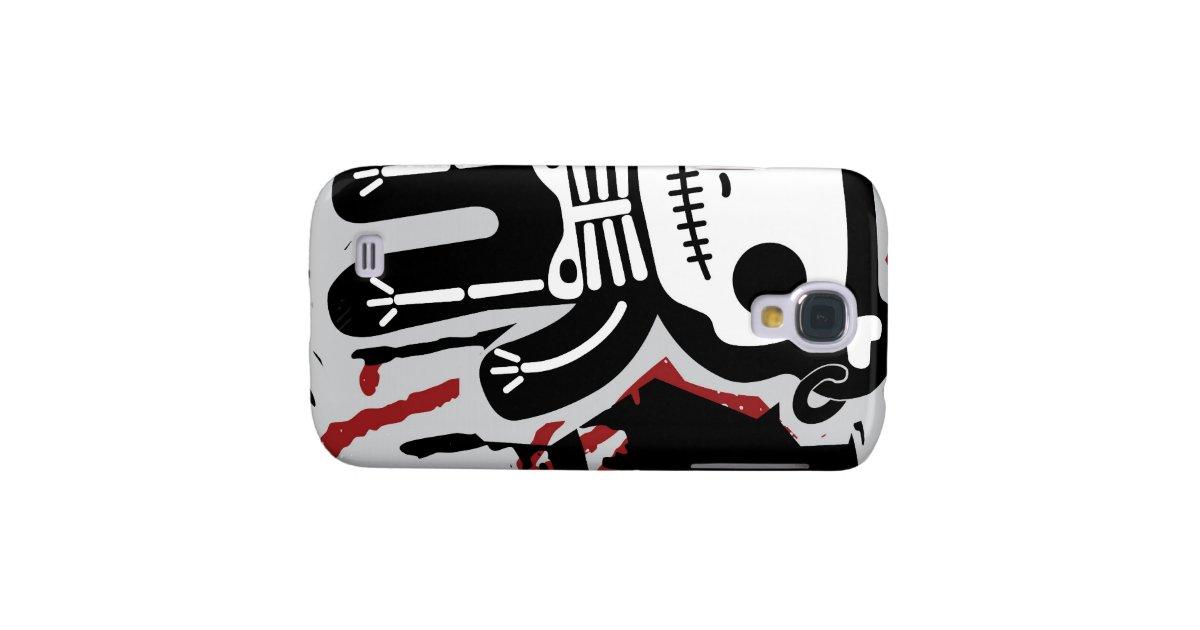 teddy bear skeleton bloody iphone case