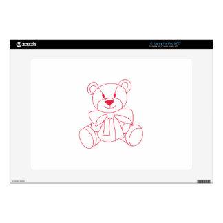 "Teddy Bear Skin For 15"" Laptop"