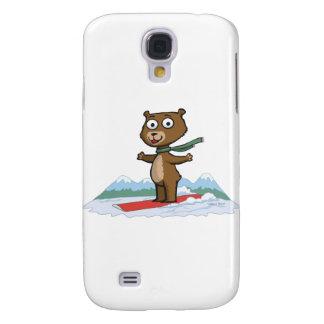 Teddy Bear Snowboarder Samsung Galaxy S4 Cover