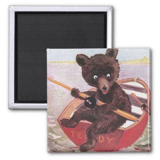 Teddy Bear Spies a Big Fish Magnet