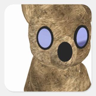 Teddy bear square sticker