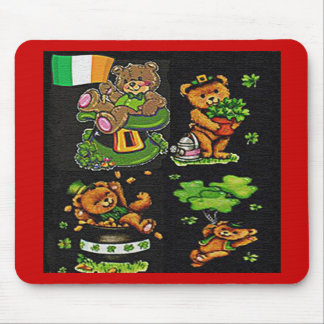 Teddy Bear St Patrick s Day Collection Mouse Pads