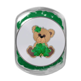 Teddy Bear St. Patrick's Day Candy Tins