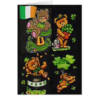 Teddy Bear St. Patrick's Day Collection Card