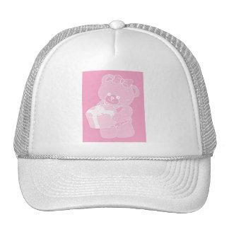 Teddy Bear, Standing, Pale Pink for Girls Trucker Hat