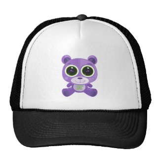 Teddy Bear - Star Eye Purple Hat