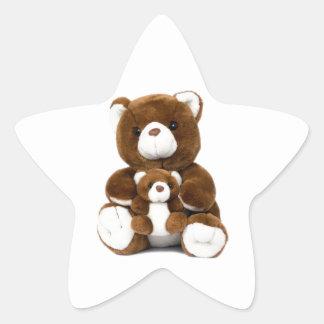 teddy bear star sticker