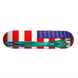 Teddy Bear,Statue of Liberty & USA Flag(3) Skateboard Deck