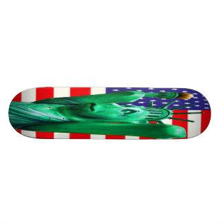 Teddy Bear,Statue of Liberty & USA Flag(4) Skate Decks
