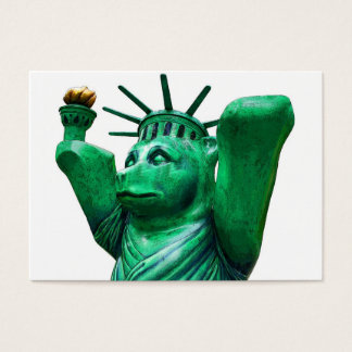 Teddy Bear,Statue of Liberty,White Back Business Card
