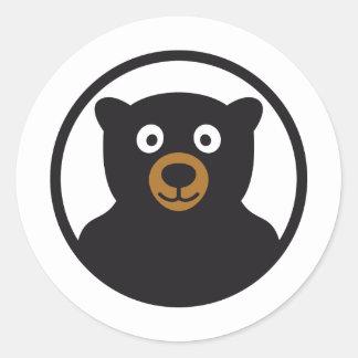 teddy bear round sticker