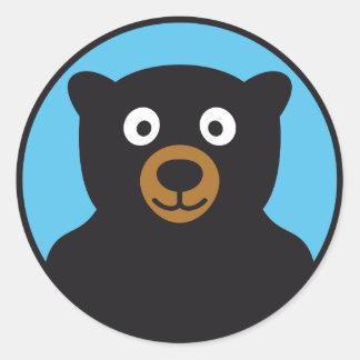 teddy bear round stickers
