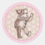 Teddy Bear Sticker - Pink