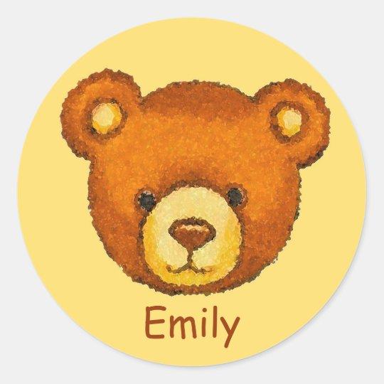 Teddy Bear Stickers ~ Custom Name ~ Personalize