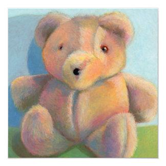 Teddy bear stuffed animal plush toy fun cute art card