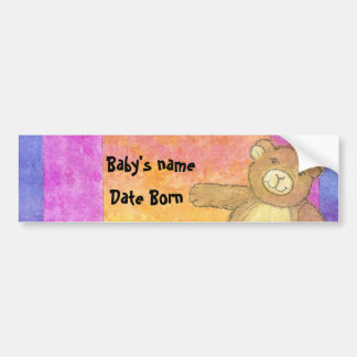 Teddy Bear Sun Set Bumper Sticker